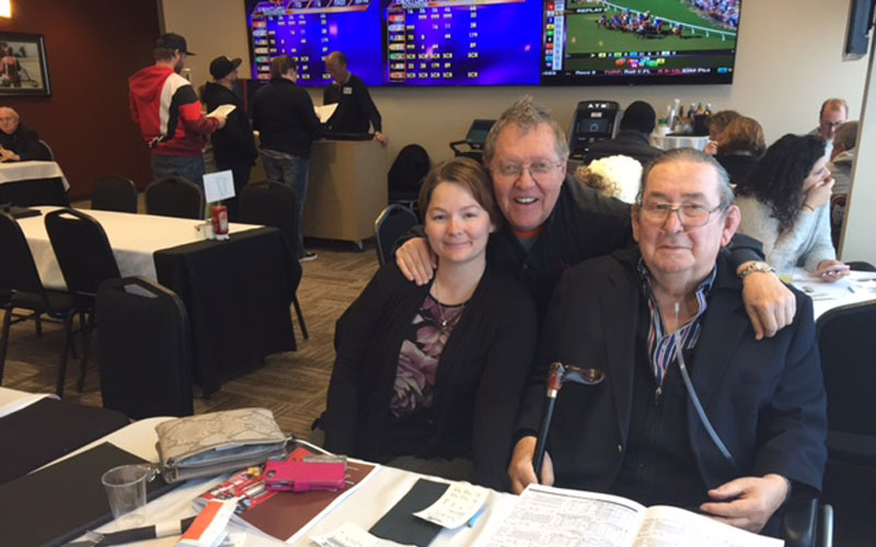 Lynn with Max Gibb at Century Downs