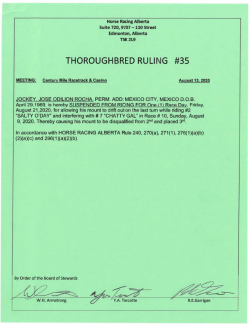 Ruling T035-2020