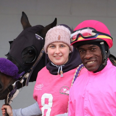 Courtney Ross with her rider, Neville Stephenson at RMTC