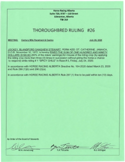 Ruling T026-2020