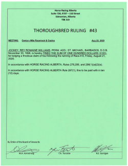 Ruling T043-2020