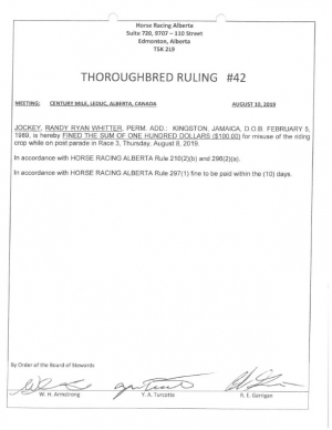 Ruling T042-2019