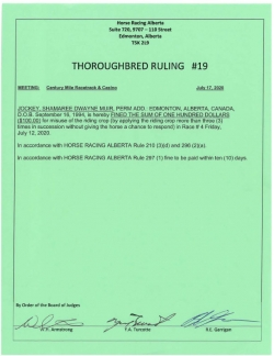 Ruling T019-2020