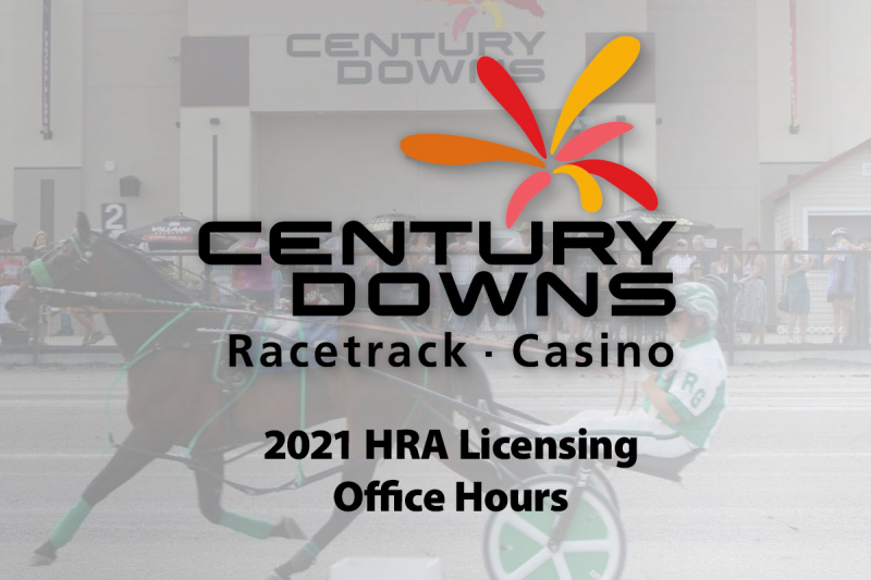 Century Downs 2021 HRA Licensing Office Hours (update)
