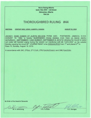 Ruling T044-2019