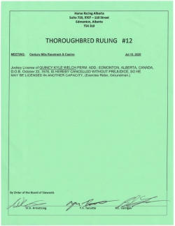 Ruling T012-2020