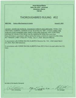 Ruling T032-2020