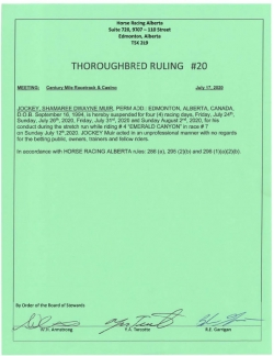 Ruling T020-2020